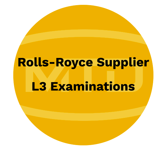Rolls Royce Supplier L3 Examinations